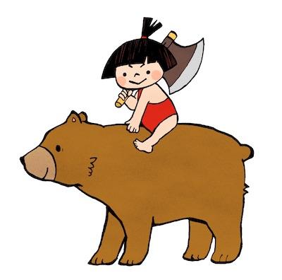 クマに乗った金太郎