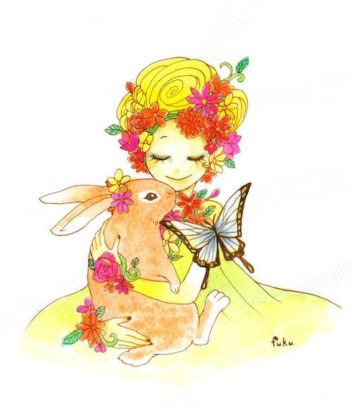 花と女の子
