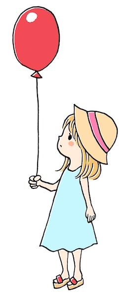風船を持った女の子